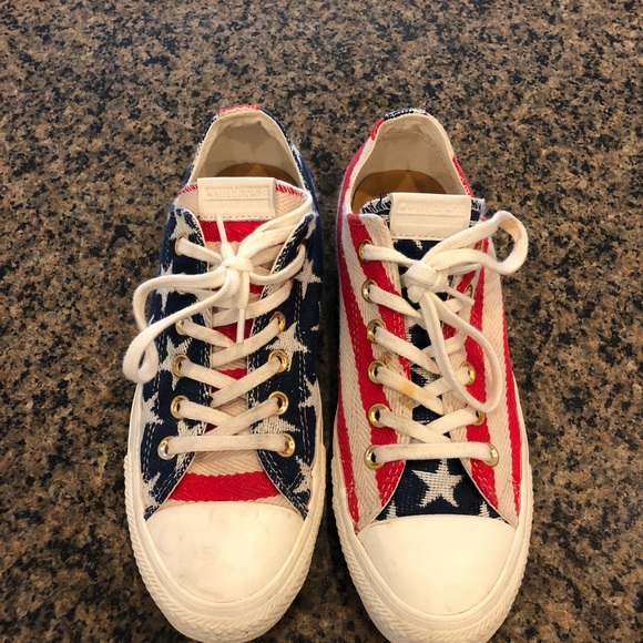 58176d22642a Converse Shoes - Converse USA Flag 8 chuck Taylor s limited stars